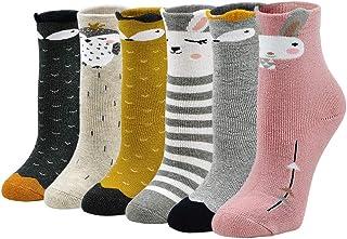 PUTUO, Calcetines Invierno Niña Calcetines Térmicos Calientes, Calcetines Divertidos Niña Niños Calcetines de Algodón Calcetines de Animales, 2-11 años, 5/6 pares