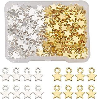 Cheriswelry Pendentifs de style tibétain pour fabrication de bijoux, bracelets, colliers, boucles d'oreilles