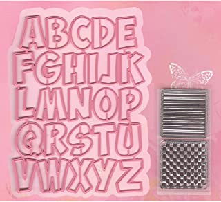 Marianne Design COL1350 Alphabet à Collectionner, Métal, Rose, 6,6 x 6,5 x 0,4 cm