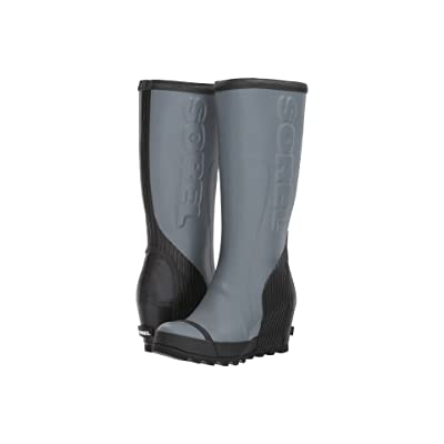 SOREL Joan Rain Wedge Tall Felt (Graphite/Black) Women