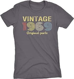 50th Birthday Gift Womens T-Shirt - Retro Birthday - Vintage 1969 Original Parts