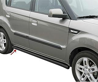 OMAC Acessórios exteriores de automóveis, trilho de degrau | pranchas de corrida pretas de aço inoxidável, 2 peças, barras...