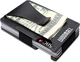 Minimalist Wallet with Money Clip Aluminum Credit Card Holder Slim Front Pocket RFID Blocking