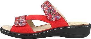 Hickersberger Mosaiko lederen pantolette dames, rood