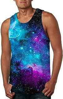Cutemefy Men's All Over Print Sleeveless Tank Top Casual Sport Gym Vest Shirt