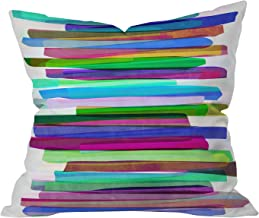 Deny Designs Mareike Boehmer Colorful Stripes 3 Throw Pillow, 26 x 26