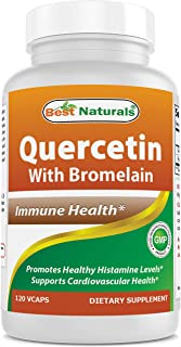 Best Naturals Quercetin with Bromelain Veggie Capsule - 800mg of Quercetin & 165 mg of Bromelain (400 GDU/g), 120 Count
