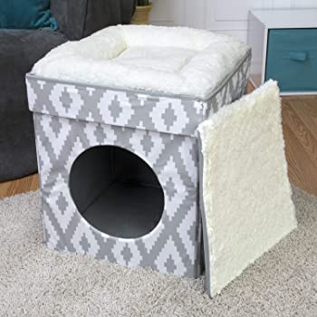 Chesapeake Bay Premium X-Large Stackable Cozy Cat Cube House Bed