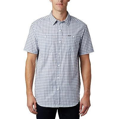 Columbia Leadville Ridgetm Short Sleeve Shirt II (New Moon Small Grid Plaid) Men