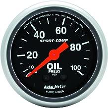 Auto Meter 3321 Sport-Comp Mechanical Oil Pressure Gauge