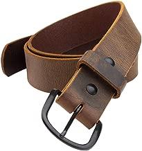 The Bootlegger Leather Belt | Made in USA | Full Grain Leather | Mens Belt
