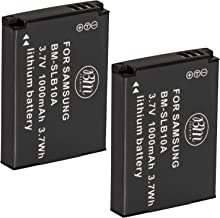 Big Mike's SLB-10A Batteries for Select Samsung Digital Cameras, Pack of 2
