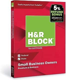 H&R Block Tax Software Premium & Business 2018 with 5% Refund Bonus Offer [Amazon Exclusive] [PC Disc]