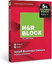 [OLD VERSION] H&R Block Tax Software Premium & Business 2018 with 5% Refund Bonus Offer [Amazon Exclusive] [PC Disc]