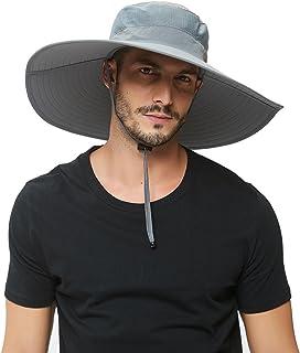 Super Wide-Brim Outdoor Sun hat For Men,Fishing Hat UPF 50+ UV Sun Protection Waterproof Bucket Hat