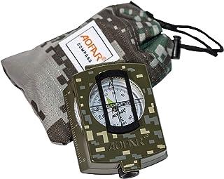 AOFAR AF-4580 brújula militar visionado de lentes, fluorescente, impermeable y a prueba de sacudidas con medidor de mapas,...