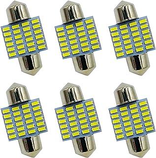 """DE3175 Festoon LED Bulb 31MM 1.25"""", DE3021 DE3175 6428 LED Bulb Xenon White 31mm 24-SMD 3014 Chipset Festoon Light Bulb fo..."""
