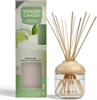 Yankee Candle Reed Diffuser   Vanilla Lime   120 ml   Up to 10 Weeks of Fragrance