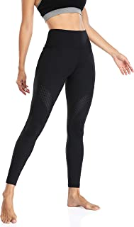 ATTRACO Leggings with Pockets High Waist Yoga Pants Womens Workout Butt Lift Tummy Control Tights