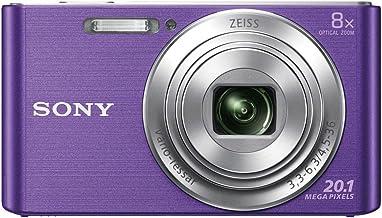 Sony DSCW830 Digital Compact Camera - Purple (20.1MP, 8x Optical Zoom) 2.7 Inch LCD