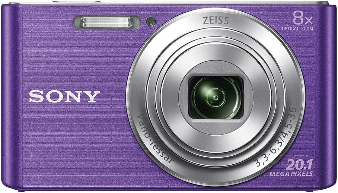 Sony DSC-W830 - Cámara compacta de 20.1 Mp (pantalla de 2.7 zoom óptico 8x estabilizador óptico) violeta