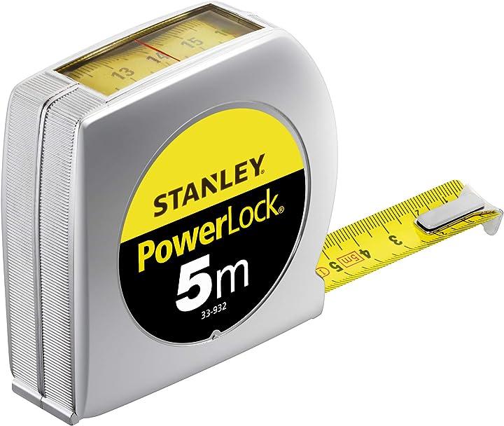 Flessometro powerlock 5m lettura diretta stanley - 0-33-932
