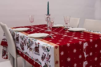 Amazon Fr Nappe Noel Rouge Cuisine Maison