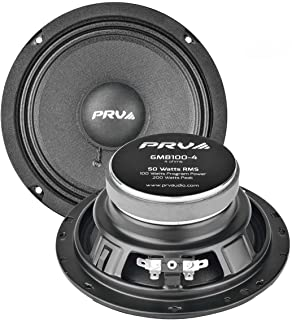 $48 » PRV AUDIO 6MB100-4 Pair of 6.5 Inch Midbass Speaker for Pro Car Audio, 4 Ohm, 50 Watts RMS Power, 200 Watts Max Power Mid ...
