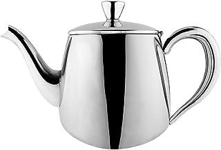 Cafe Ole PT-018 pierwszorzędny dzbanek do herbaty premium, stal nierdzewna 18/10, 18 unces, wylewanie bez kapania, wydrążo...