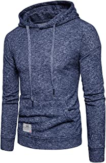 Leomodo Knitted Drop Shoulder Drawstring Pullover Hoodie