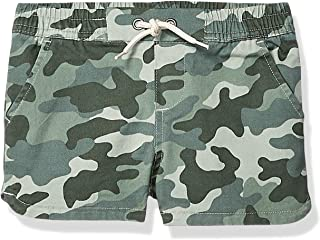 Amazon Brand - Spotted Zebra Girl's Toddler & Kid's Pull-on Shorts