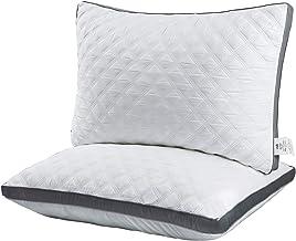 وسائد سرير فاخرة مبطنة بحجم كوين، مجموعة من وسادتين فاخرتين بديلة للنوم مع جانب رمادي، للنوم، من أجل النوم على الجانب الجا...