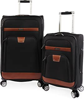 Perry Ellis 2 Piece Premise Spinner Luggage Set, Black