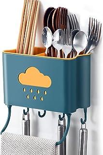 IWTTWY Cuisine Rangement et Organisation Boîte Mural Support de Cuisine Ustensiles et Accessoires (Vert)