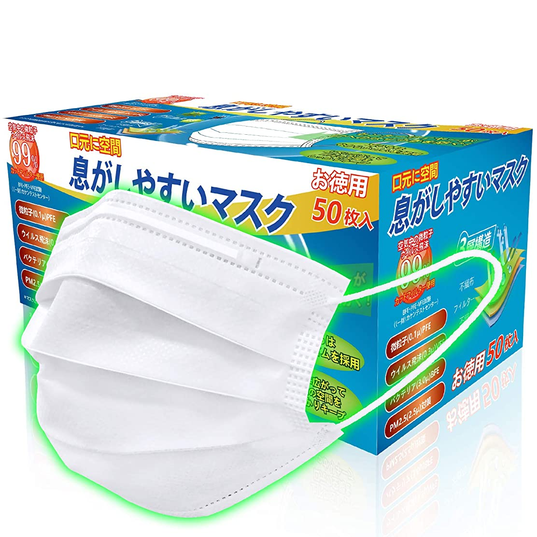 普通の丈夫差別的マスク 50枚*10 在庫入り 使い捨てマスク ホワイト 500枚 普通サイズ 快適 不織布マスク (10)