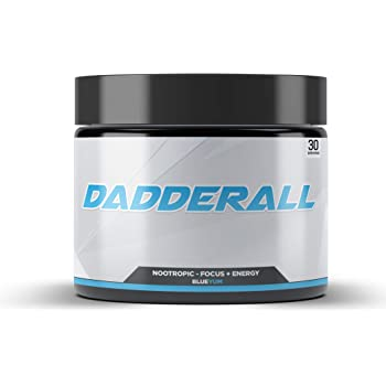 Dadderall Enhanced Memory and Energy Nootropic Supplement – Brain Boosting Powder Drink for Improved Focus, Concentration, Reaction Time, and Mood – 30 Servings
