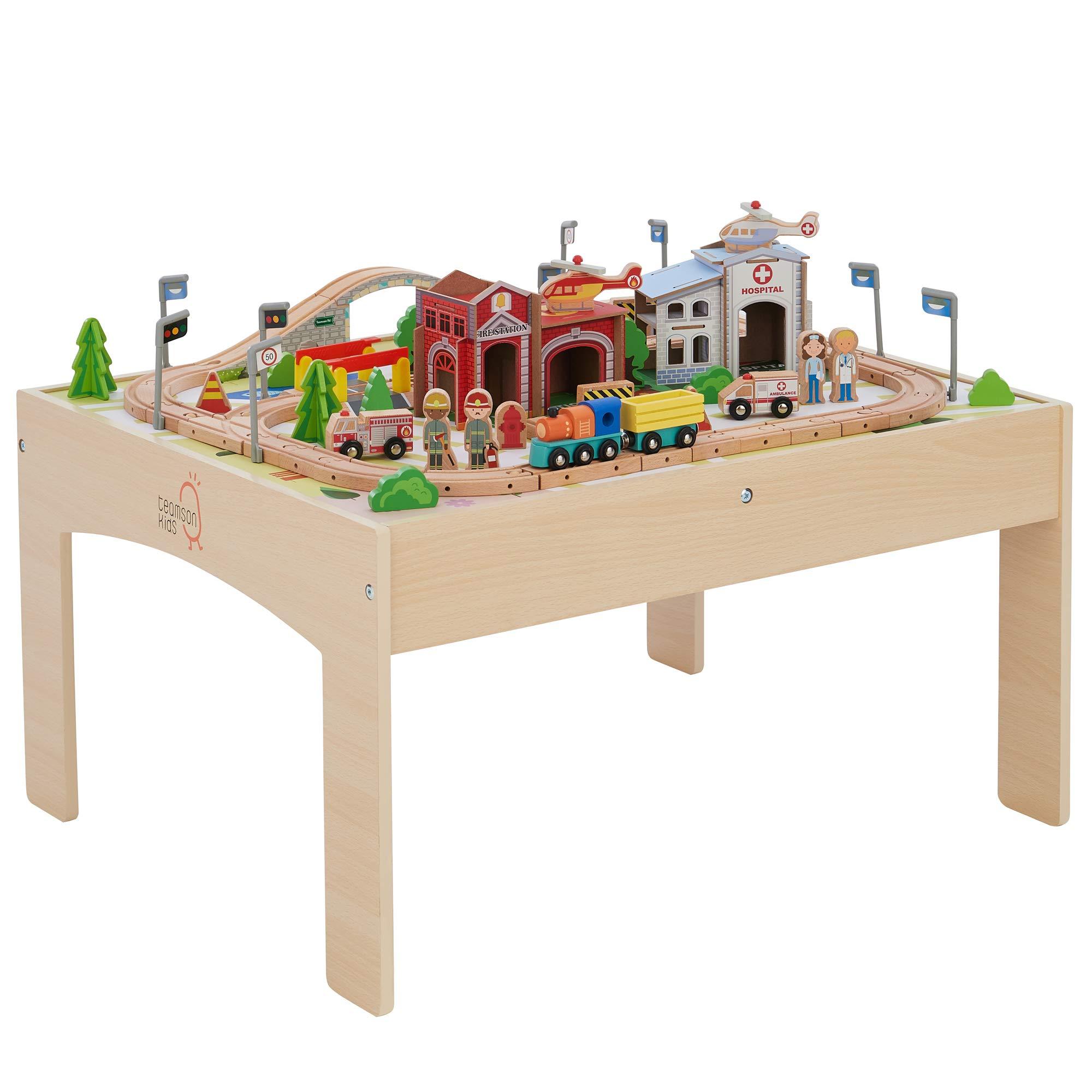 Teamson Kids- juegos de trenes de madera para niños (PS-T0004) , color/modelo surtido: Amazon.es: Juguetes y juegos