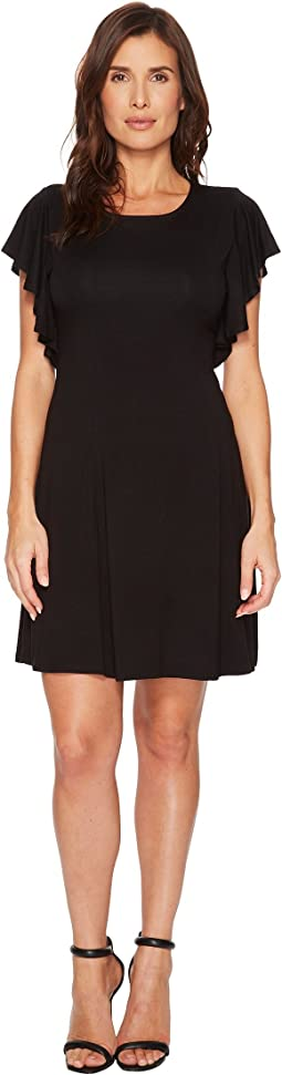 Karen Kane Cascade Sleeve Dress