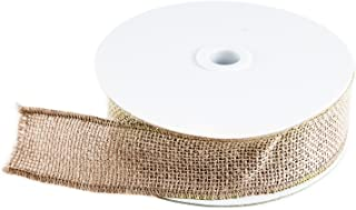 10 Yard Burlap Natural Color Fabric Ribbon Roll for Arts & Crafts Homemade DIY Projects, Event Decorations by Super Z Outlet (1.5