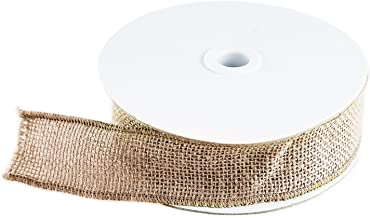 10 Yard Burlap Natural Color Fabric Ribbon Roll for Arts & Crafts Homemade DIY Projects, Event Decorations by Super Z Outl...