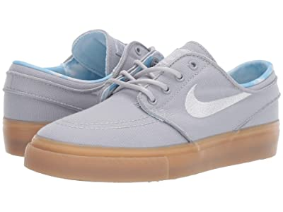 Nike Kids Stefan Janoski Print (Big Kid) (Wolf Grey/White/Gum Light Brown) Boys Shoes