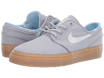 Nike SB Kids Stefan Janoski Print (Big Kid) (Wolf Grey/White/Gum Light Brown) Boys Shoes