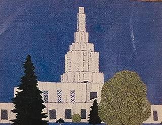 J. S. Stitchery Idaho Falls Temple LDS 11 x 14 Inch Stamped Cross Stitch Kit