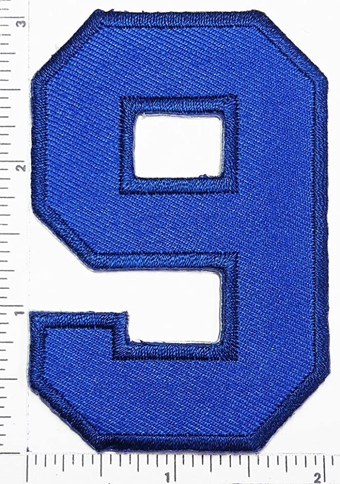 Blue Number 9 Patch Number eight counting logo Letter school symbol counting logo jacket T-Shirt patch iron on patch
