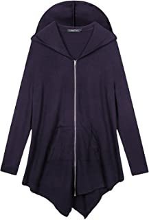 Women's Pluse Size Hooded Sweatshirt Jacket Cape Style
