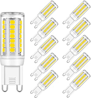 G9 LED Bulb Dimmable, 4W, Daylight White 5000K, 40W Halogen Bulbs Replacement, UL Listed, 380LM, AC 120V CRI 82, G9 Base (10 Pack) by Eco.Luma