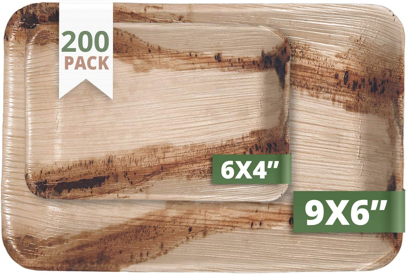 Excellence CaterEco Rectangle Palm quality assurance Leaf Set Plate