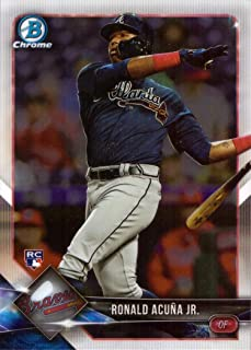 2018 Bowman Chrome Baseball #40 Ronald Acuna Jr. Rookie Card