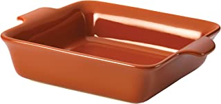 Anolon Vesta Ceramics Bakeware / Lasagna Pan / Baker, Square - 9 Inch, Persimmon Orange