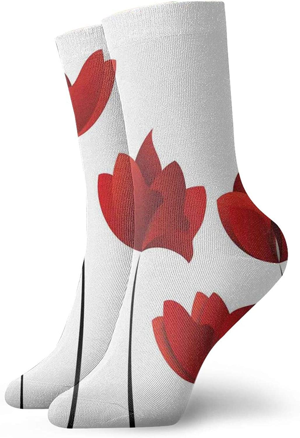 Silhouette Of A Couple Sitting In Front Of Heart Shaped Moon Night Out Athletic Socks For Men / Women,30CM